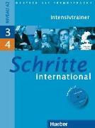 Cover-Bild zu Niebisch, Daniela: Schritte international 3 + 4. A2. Intensivtrainer