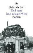 Cover-Bild zu Böll, Heinrich: Und sagte kein einziges Wort