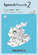 Cover-Bild zu Sprachfreunde, Sprechen - Schreiben - Spielen, Ausgabe Nord/Süd - Neubearbeitung 2015, 2. Schuljahr, Handreichungen für den Unterricht mit CD-ROM von Knutas, Kathrin