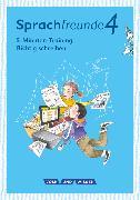 """Cover-Bild zu Sprachfreunde, Sprechen - Schreiben - Spielen, Ausgabe Nord/Süd - Neubearbeitung 2015, 4. Schuljahr, 5-Minuten-Training """"Richtig schreiben"""", Arbeitsheft"""