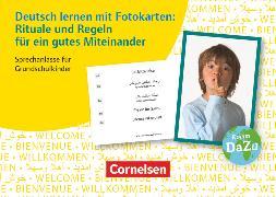 Cover-Bild zu Deutsch lernen mit Fotokarten - Grundschule, Rituale und Regeln für ein gutes Miteinander, 100 Bildkarten