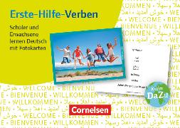 Cover-Bild zu Deutsch lernen mit Fotokarten - Sekundarstufe I/II und Erwachsene, Erste-Hilfe-Verben, 100 Fotokarten
