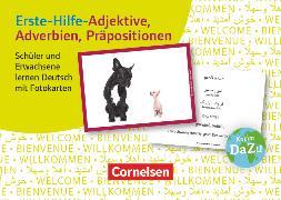 Cover-Bild zu Deutsch lernen mit Fotokarten - Sekundarstufe I/II und Erwachsene, Erste-Hilfe-Adjektive, Adverbien, Präpositionen, 100 Fotokarten