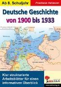 Cover-Bild zu Deutsche Geschichte von 1900 bis 1933 (eBook) von Heitmann, Friedhelm