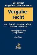 Cover-Bild zu Beck'scher Vergaberechtskommentar Band 2 von Burgi, Martin (Hrsg.)