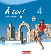 Cover-Bild zu À toi !, Vier- und fünfbändige Ausgabe, Band 4, Lehrermaterialien mit CD-Extra im Ordner, CD-ROM und CD auf einem Datenträger