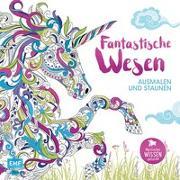 Cover-Bild zu Fantastische Wesen - Ausmalen und Staunen von Merritt, Richard (Illustr.)