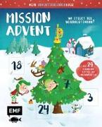 Cover-Bild zu Mein Adventskalender-Buch: Mission Advent - Wo steckt der Weihnachtsmann? von Thißen, Sandy (Illustr.)