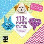 Cover-Bild zu 111 x Papierfalten - Kinderleichter Faltspaß von Precht, Thade