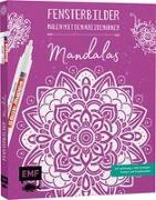 Cover-Bild zu Vorlagenmappe Fensterbilder malen mit dem Kreidemarker - Mandalas
