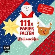 Cover-Bild zu 111 x Papierfalten - Weihnachten