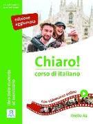 Cover-Bild zu Chiaro! A2, einsprachige Ausgabe - edizione aggiornata - Kurs- und Arbeitsbuch mit Beiheft von De Savorgnani, Giulia