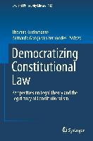 Cover-Bild zu Bustamante, Thomas (Hrsg.): Democratizing Constitutional Law