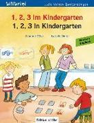 Cover-Bild zu 1, 2, 3 in Kindergarten. Kinderbuch Deutsch-Englisch von Böse, Susanne