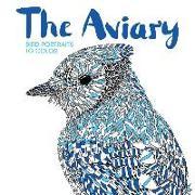 Cover-Bild zu Scully, Claire (Illustr.): The Aviary: Bird Portraits to Color