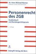 Cover-Bild zu Personenrecht des ZGB von Riemer, Hans M