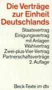 Cover-Bild zu Die Verträge zur Einheit Deutschlands