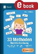 Cover-Bild zu 33 Methoden Rechtschreibung (eBook) von Pohlmann, Stefanie
