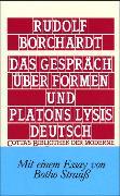 Cover-Bild zu Borchardt, Rudolf: Das Gespräch über Formen und Platons Lysis deutsch