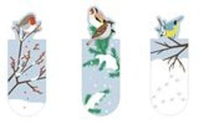 Cover-Bild zu Magnetlesezeichen Wintervögel