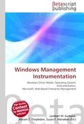 Cover-Bild zu Windows Management Instrumentation von Surhone, Lambert M. (Hrsg.)