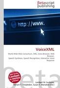 Cover-Bild zu VoiceXML von Surhone, Lambert M. (Hrsg.)
