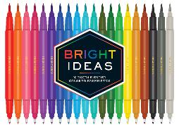 Cover-Bild zu Bright Ideas: 20 Double-Ended Colored Brush Pens von Chronicle Chroma (Geschaffen)