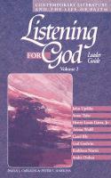 Cover-Bild zu Carlson, Paula J. (Hrsg.): Listening for God Ldr Vol 2