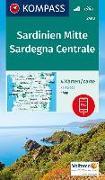 Cover-Bild zu KOMPASS Wanderkarte Sardinien Mitte, Sardegna Centrale. 1:50'000