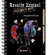 Cover-Bild zu Kreativ-Kratzel Pocket Art: Magische Pferde von Loewe Kratzel-Welt (Hrsg.)