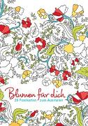 Cover-Bild zu Postkarten zum Ausmalen: Blumen für dich