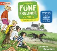 Cover-Bild zu Blyton, Enid: Fünf Freunde JUNIOR - Drei Abenteuer - Die Suche nach dem Rennpferd. Den Räubern auf der Spur. Unser Timmy ist der Beste