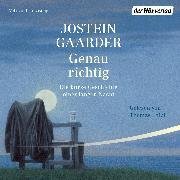 Cover-Bild zu Gaarder, Jostein: Genau richtig (Audio Download)