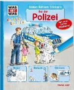 Cover-Bild zu Marti, Tatjana: WAS IST WAS Kindergarten Malen Rätseln Stickern Bei der Polizei