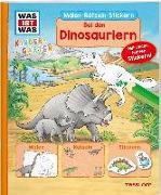 Cover-Bild zu Marti, Tatjana: WAS IST WAS Kindergarten Malen Rätseln Stickern Bei den Dinosauriern