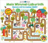 Cover-Bild zu Hogan, Martina (Illustr.): Glücksfisch: Mein Wimmel-Labyrinth: Komm mit in meine Welt!