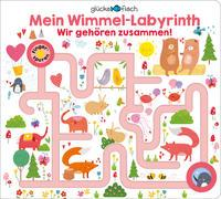 Cover-Bild zu Wright, Louise (Illustr.): Glücksfisch: Mein Wimmel-Labyrinth: Wir gehören zusammen!