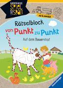 Cover-Bild zu Rist, Cornelia: Rätselblock von Punkt zu Punkt: Auf dem Bauernhof