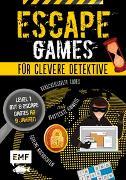 Cover-Bild zu Escape Games - Löse die Rätsel! - Level 1 mit 8 Escape Games ab 9 Jahren von Monhard, Mallory