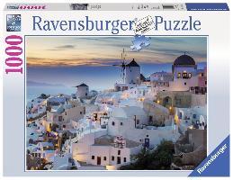 Cover-Bild zu Abend über Santorini