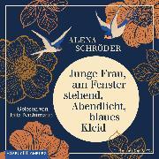 Cover-Bild zu eBook Junge Frau, am Fenster stehend, Abendlicht, blaues Kleid