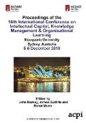 Cover-Bild zu Dumay, John (Hrsg.): ICICKM19 - Proceedings of the 16th International Conference on Intellectual Capital, Knowledge Management & Organisational Learning