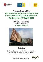 Cover-Bild zu Dumay, John (Hrsg.): A-CSEAR 2015 - 14th Australasian Centre on Social and Environmental Accounting Research Conference