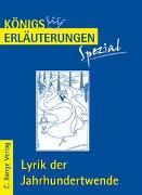 Cover-Bild zu Lyrik der Jahrhundertwende von Blecken, Gudrun