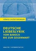 Cover-Bild zu Deutsche Liebeslyrik vom Barock bis zur Gegenwart von Blecken, Gudrun