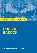 Cover-Bild zu Lyrik des Barock von Blecken, Gudrun