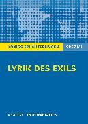 Cover-Bild zu Lyrik des Exils von Blecken, Gudrun