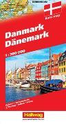 Cover-Bild zu Dänemark Strassenkarte 1:300 000. 1:300'000 von Hallwag Kümmerly+Frey AG (Hrsg.)