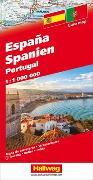 Cover-Bild zu Spanien / Portugal Strassenkarte 1:1 Mio. 1:1'000'000 von Hallwag Kümmerly+Frey AG (Hrsg.)