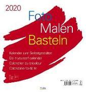 Cover-Bild zu Foto-Malen-Basteln Bastelkalender weiß groß 2020